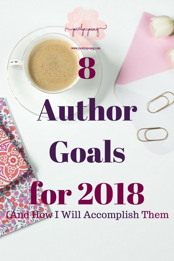 8 Author Goalsfor 2018
